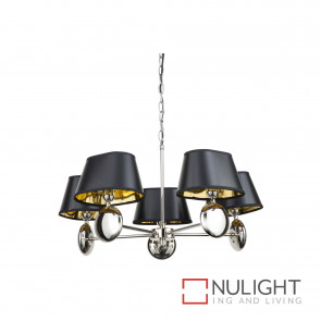 Lozi 5 Light Pendant Polished N Ickel BRI