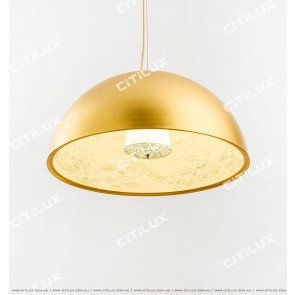 Sky Garden Golden Round Single Head Chandelier Citilux