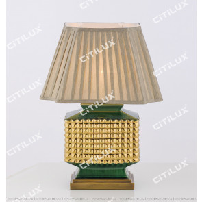 New Chinese Olive Green Gold-Plated Ceramic Table Lamp Short Citilux