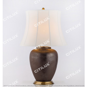 Chinese Chrome Old Ceramic Table Lamp Citilux