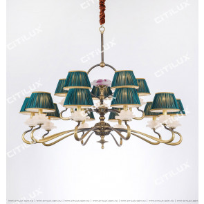 Chinese Style Copper Glazed Zen Double Chandelier Citilux