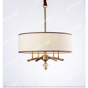 Chinese Copper Bamboo Zen Chandelier Citilux