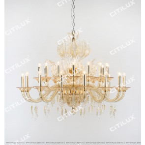European Champagne Glass Blade Large Chandelier Citilux