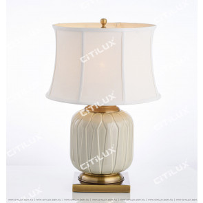 Chinese Bean Green Ceramic Table Lamp Citilux