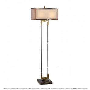 New Chinese Gauze Cover Copper Floor Lamp Citilux