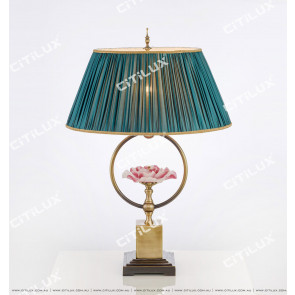 Chinese Style Copper Glazed Zen Table Lamp Citilux