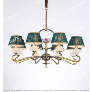 Chinese Style Copper Glazed Zen Chandelier Medium Citilux