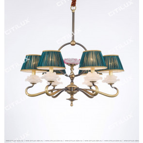 Chinese Style Copper Chandelier Zen Chandelier Small Citilux