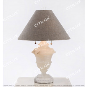 Vintage White Marble Table Lamp Citilux