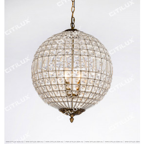 Nordic Vintage Artificial Woven Crystal Spherical Chandelier Citilux
