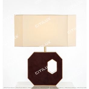Modern Light Luxury Deep Purple Red Leather Table Lamp Citilux