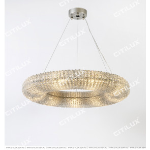 Modern Nordic Style Crystal Ring Chandelier Citilux