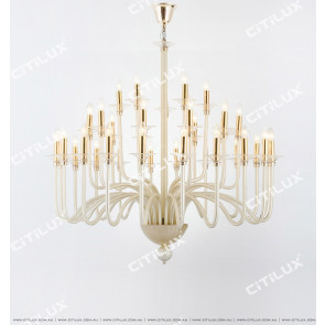 Simple European Light Champagne Glass Large Chandelier Citilux