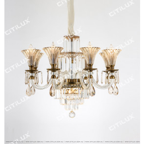 European Classical Single Tier Crystal Chandelier Citilux