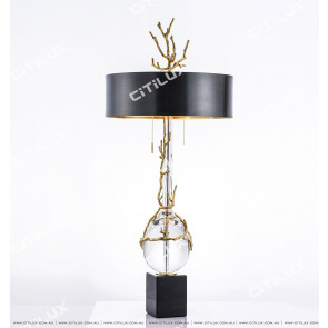Art Copper Tree Fork Crystal Table Lamp Citilux