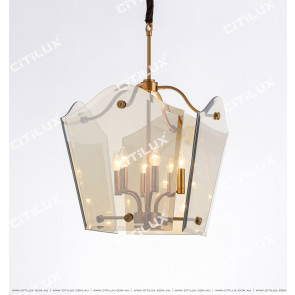 European Style Simple Dry Color Glass Chandelier Citilux