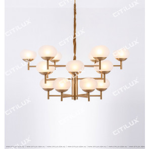 Small American Simple Modern Glass Three-Story Large Chandelier Citilux