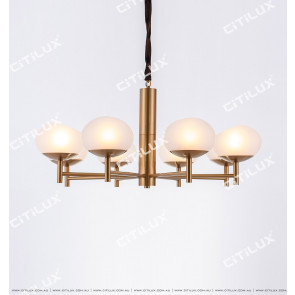 Small American Simple Modern Glass Medium Chandelier Citilux