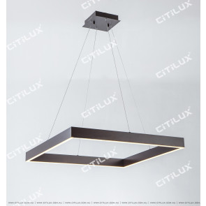 Modern Minimalist Led Square Dining Chandelier Citilux