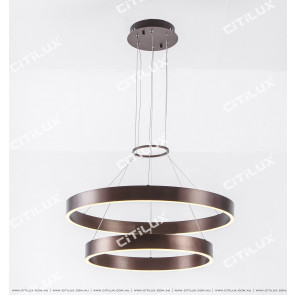 Modern Minimalist Double Circle Led Chandelier Citilux