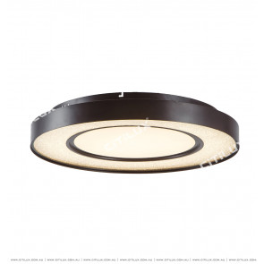 Modern Transparent Crystal Sand Led Round Ceiling Lamp Citilux