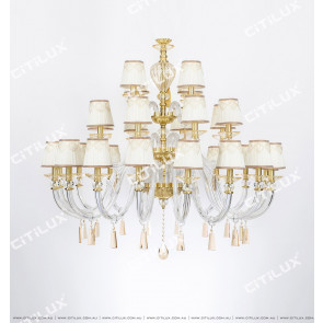 Beautiful Lace Side European Large Chandelier Citilux