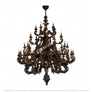 European-Style Black Hollow Chandelier Citilux
