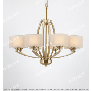 American Double Lampshade Large Chandelier Citilux