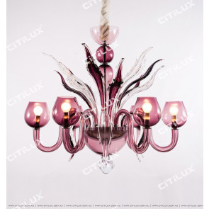 Charm Purple Handmade Glass Chandelier Citilux