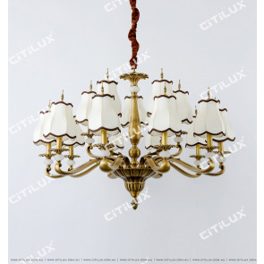 Full Copper Chinese Palace Large Chandelier Citilux