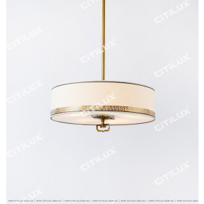 Chinese Style Fabric Chandelier Citilux