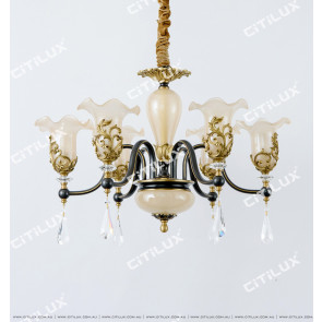 All-Copper Noble European Glass Lace Small Chandelier Citilux