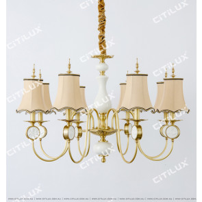 Chinese Style Copper Bucket Large Chandelier Citilux