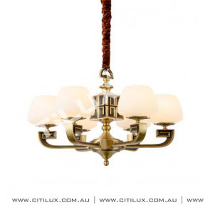Chinese Copper Embossed Small Chandelier Citilux
