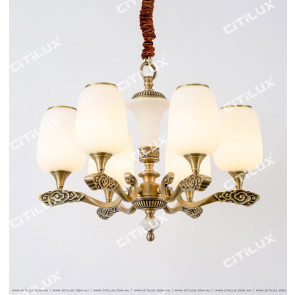 Chinese Style Copper Auspicious Cloud Retro Small Chandelier Citilux