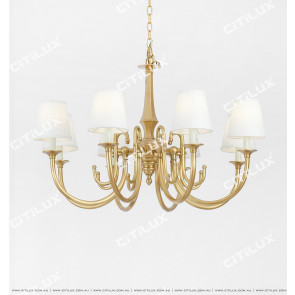 American Copper Simple Living Room Chandelier Citilux