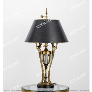 American Copper Crystal Cup Table Lamp Citilux