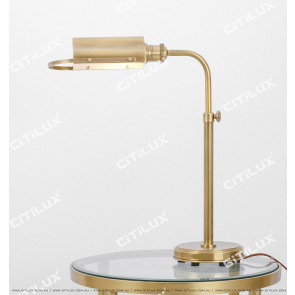 Full Copper American Desk Adjustable Table Lamp Citilux