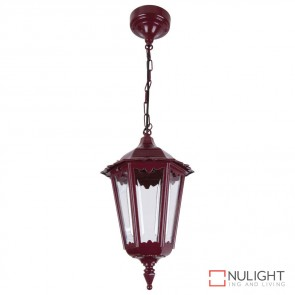 Gt 130 Chester Pendant Light Burgundy B22 DOM