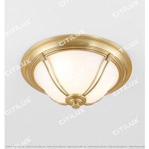 All-Copper American Semi-Arc Ceiling Lamp Citilux