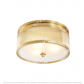 Copper Glass Rod American Ceiling Lamp Citilux