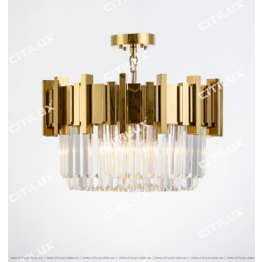 Stainless Steel Titanium Gold & Crystal Non-Standard Arrangement Small Ceiling Lamp Citilux