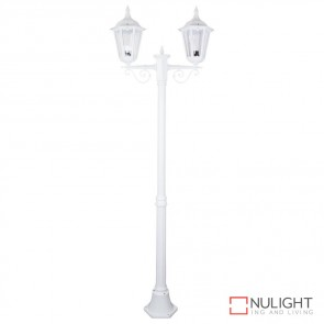 Gt 137 Chester Twin Head Medium Post Light White Finish B22 DOM