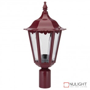 Gt 149 Chester Post Top Light Burgundy Finish B22 DOM