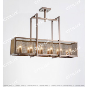 Simple New Chinese Stainless Steel Rectangular Ceiling Lamp Citilux