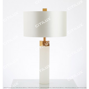 Spanish Marble Hexagonal Table Lamp Citilux