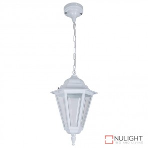 Gt 420 Turin Pendant Light White Finish B22 DOM