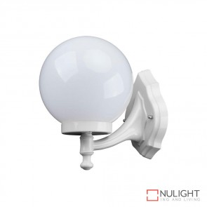 Gt 502 Siena 20Cm Sphere Wall Bracket White Finish E27 DOM