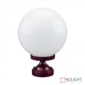 Gt 531 Siena 25Cm Sphere Ctc Pillar Mount Burgundy Finish E27 DOM