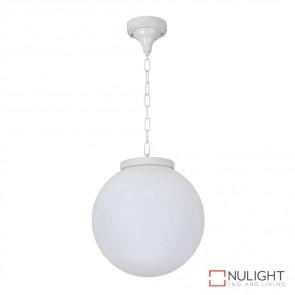 Gt 537 Siena 30Cm Sphere Pendant White Finish E27 DOM